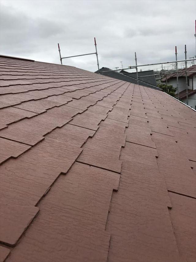 屋根上塗り完了20190318