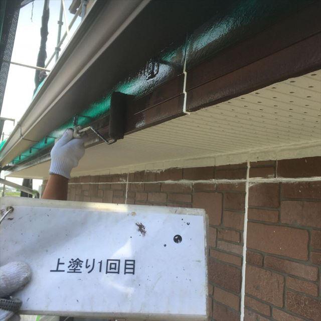 破風板上塗り1回目