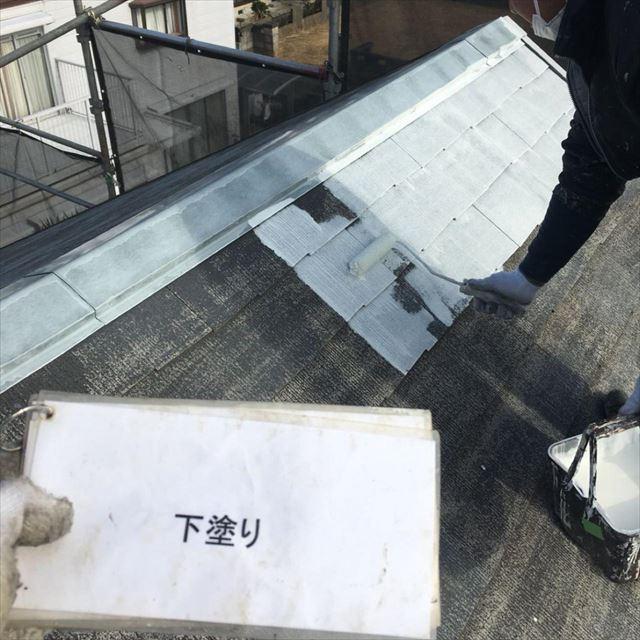 屋根下塗り1回目20190404