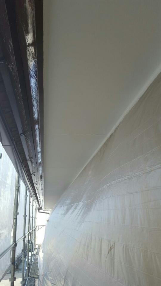 軒天塗装②完了20007