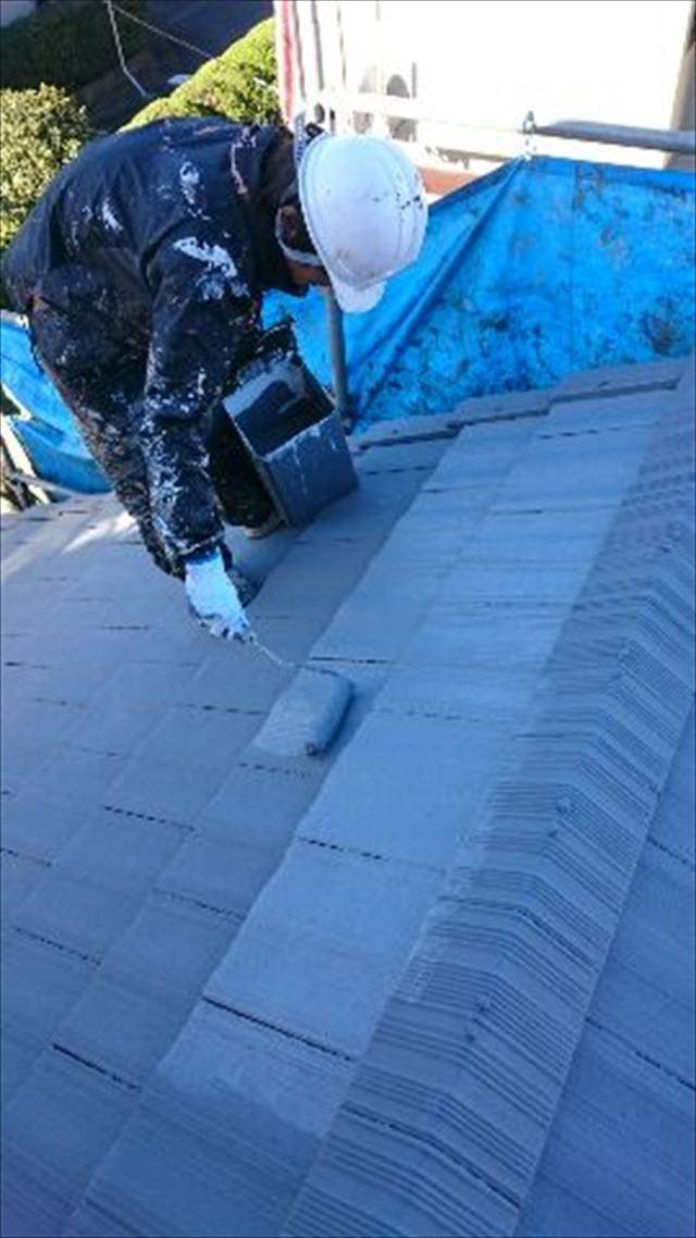 屋根上塗り20190304
