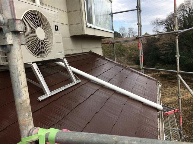 下屋根塗装完了20190422