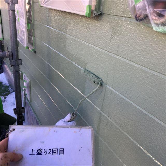 外壁上塗り20190404
