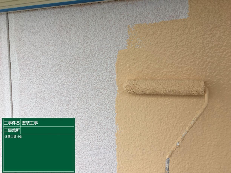 外壁中塗り中300004