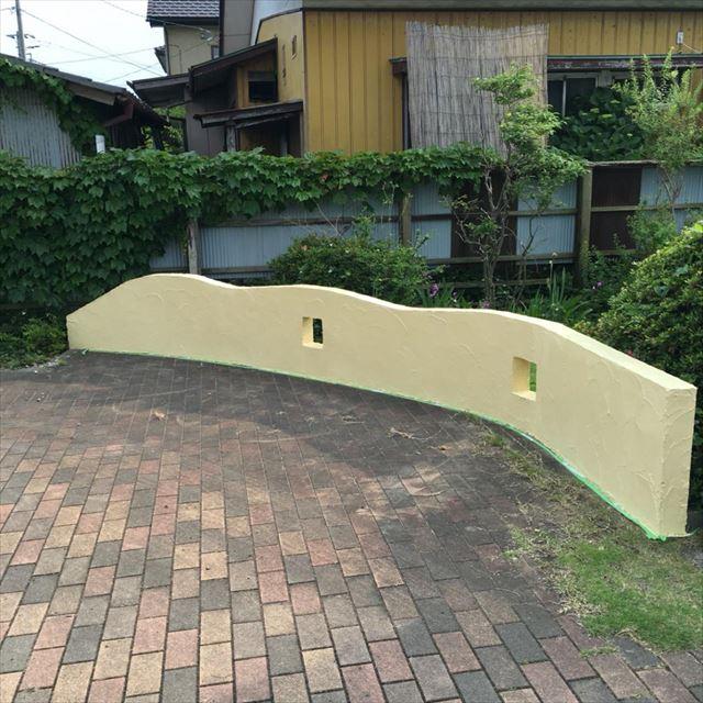 塀塗装完了20190415
