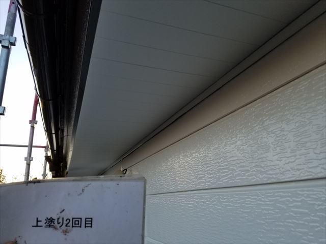 軒天塗装完了20190419