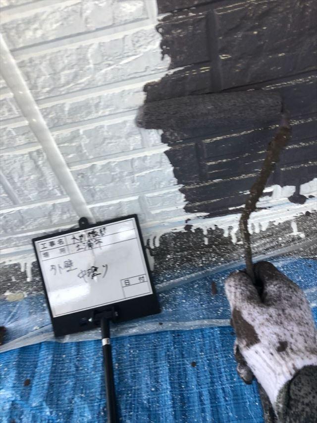 外壁中塗り20190430