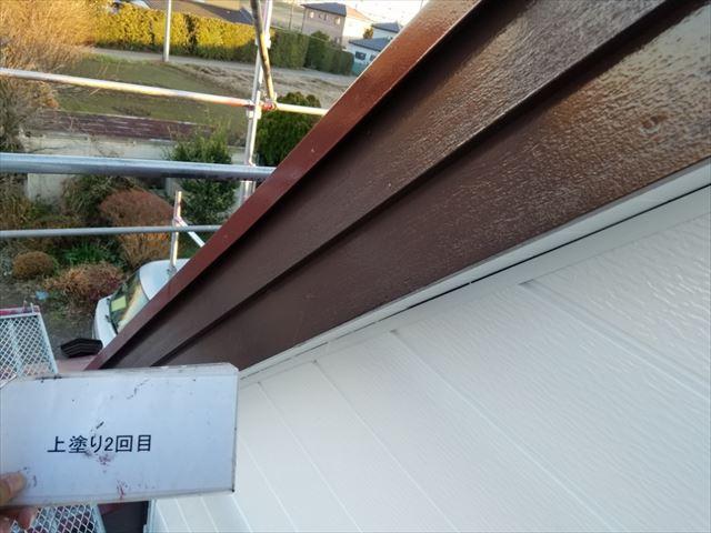 破風板塗装完了20190419