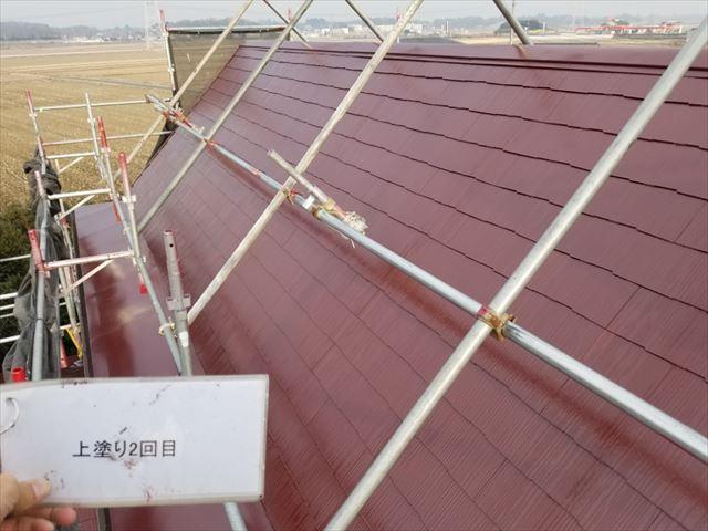 屋根塗装完了20190419