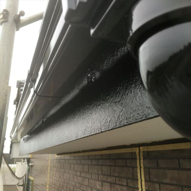雨樋、破風板塗装完了20190416