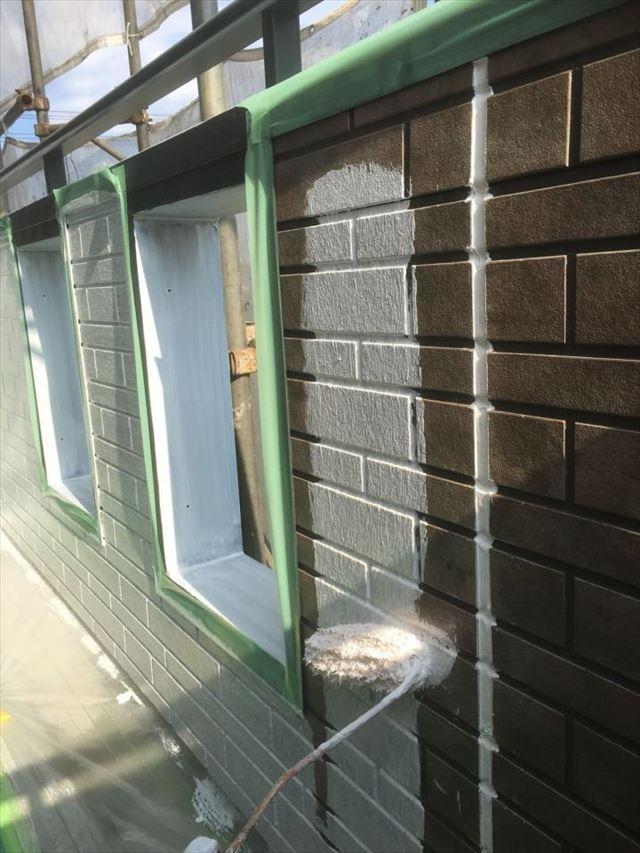 ベランダ内壁下塗り20190416
