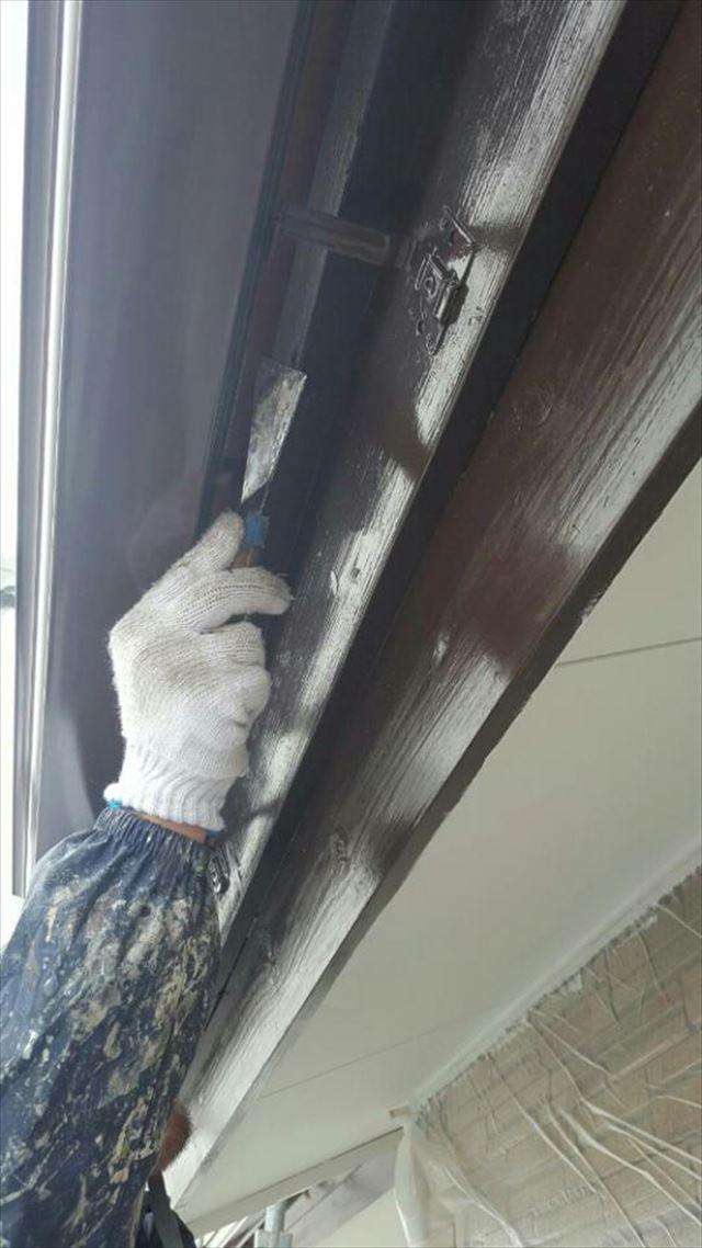 破風板上塗り2回目20190228