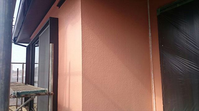 外壁上塗り施工後