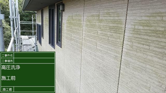 _施工前の藻だらけ外壁