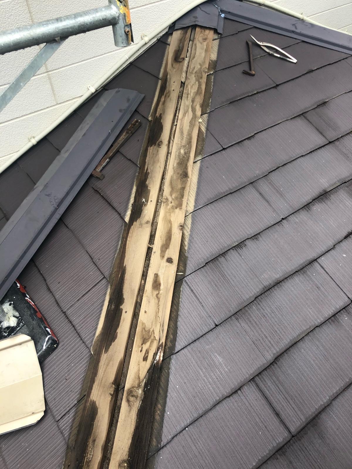 下屋根貫板取換前300012