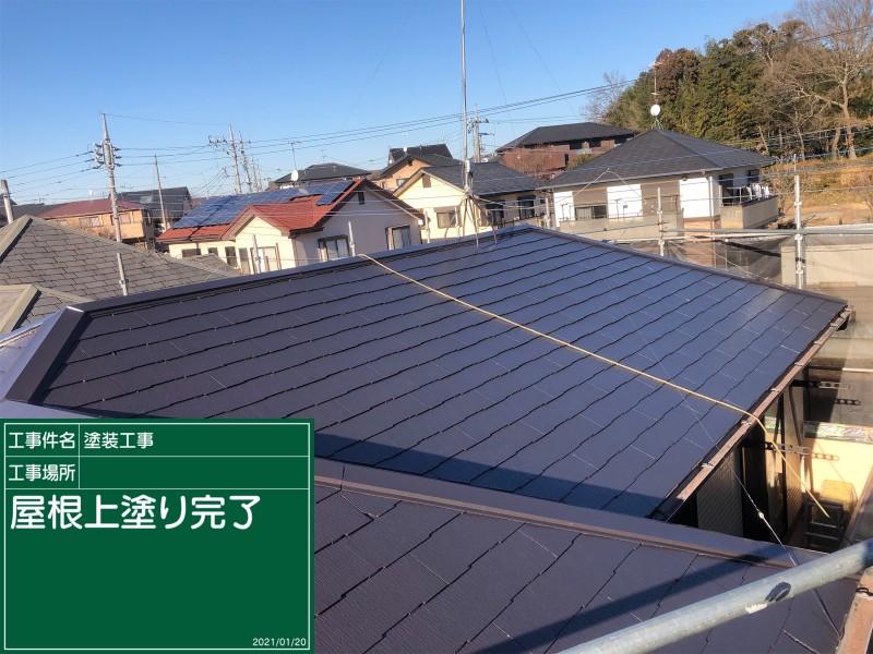 屋根上塗り20044