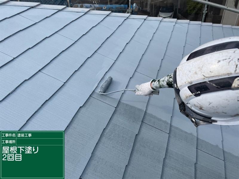 土浦市でコロニアル屋根塗装!スーパーシャネツサーモで屋根表面の温度上昇防止!