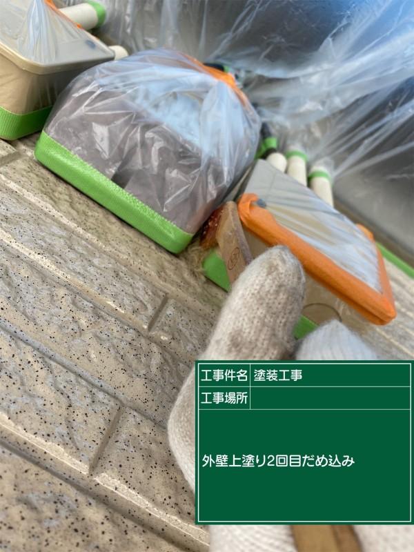 土浦市外壁クリア塗装ダメ込み②20052