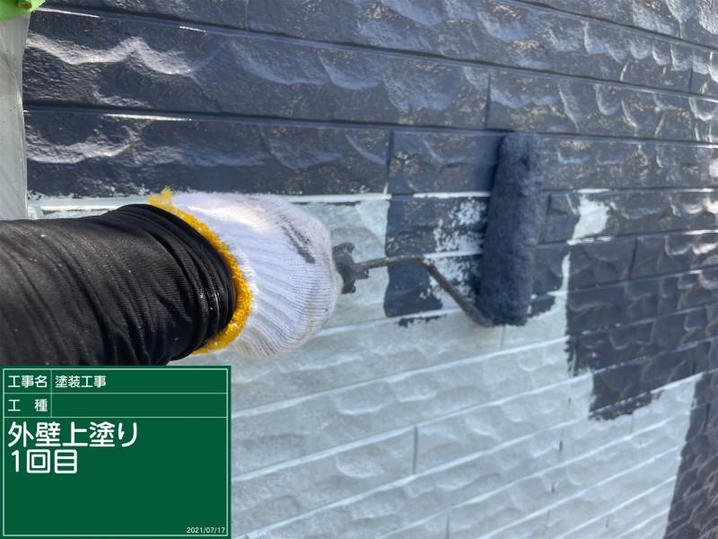 土浦市で外壁塗装!施主さまのご希望通りにツートンカラーで仕上げます!