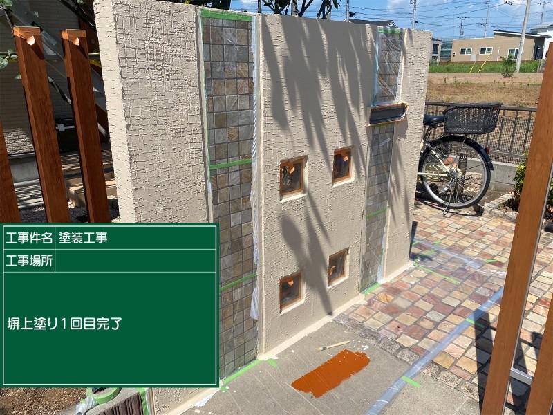 土浦市門塀上塗り①完了20052