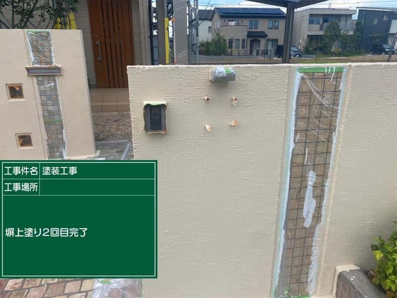 土浦市門塀上塗り②完了20052