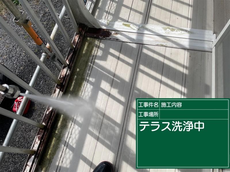 土浦市テラス高圧洗浄20055