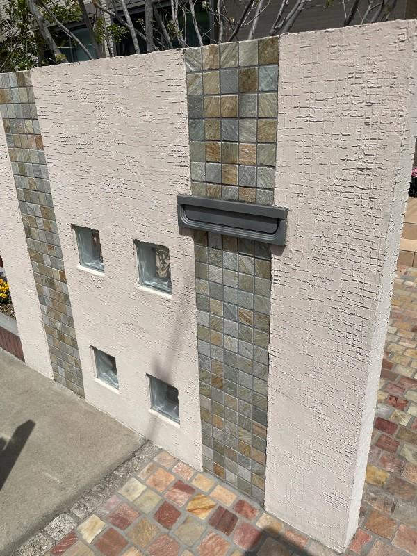 土浦市高圧洗浄門塀完了20052