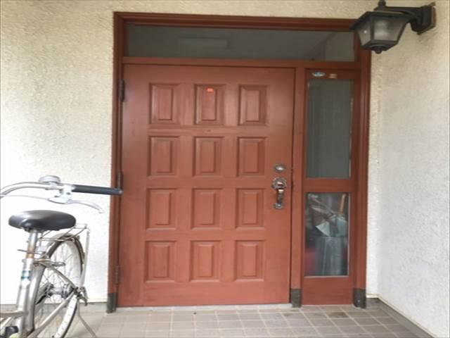 現地調査-玄関ドア-塗膜劣化_M00008