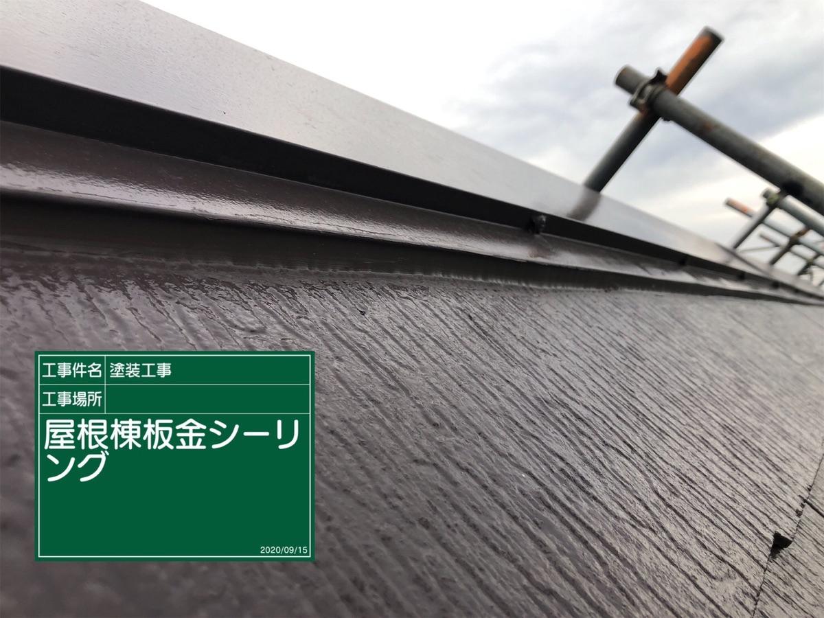 屋根棟板金シーリング300013