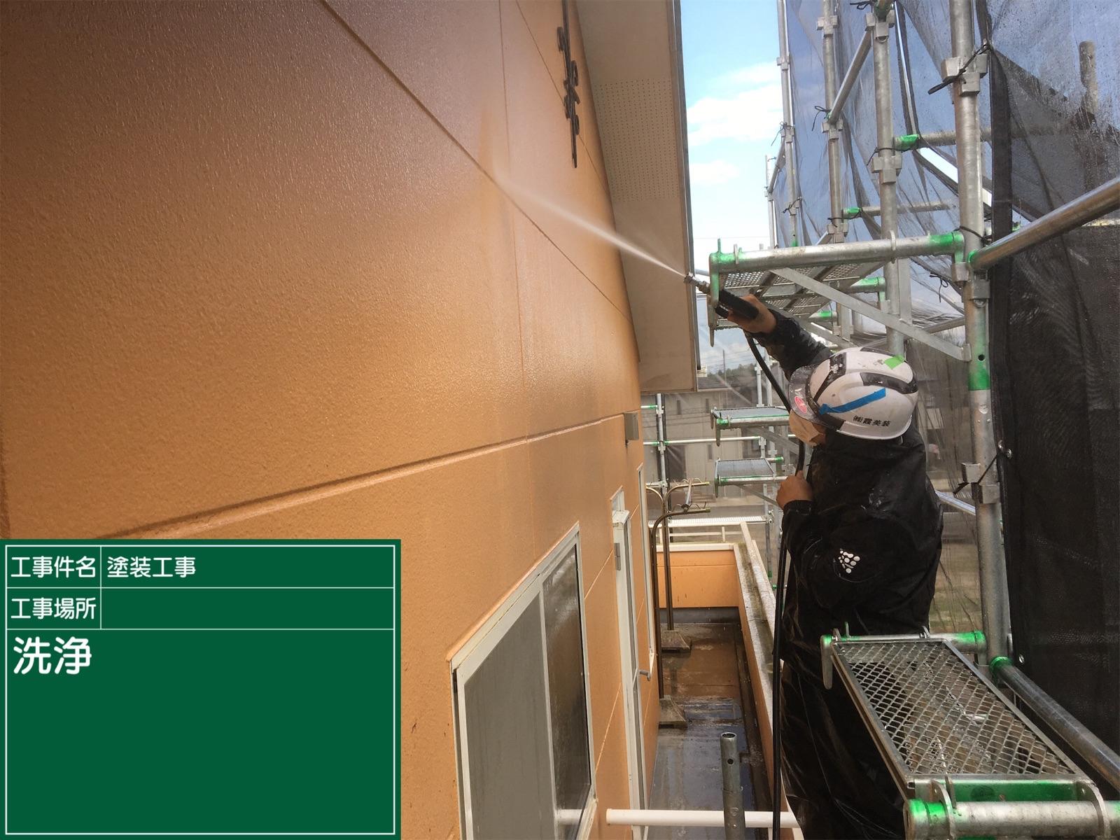 高圧洗浄中外壁(3)300016