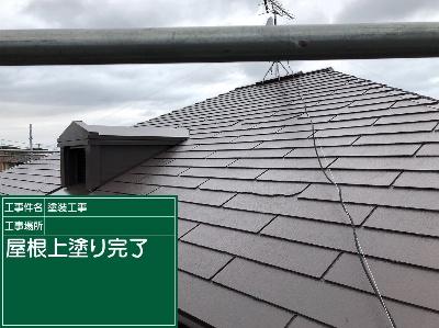 屋根上塗り完了20020