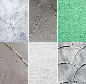 塗装による室内の壁のさまざまな仕上げ例