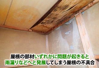 雨漏りなどへと発展してしまう屋根の不具合